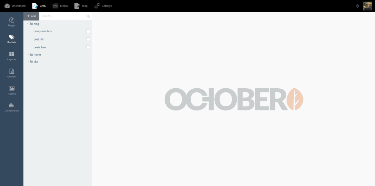 October CMS dashboard