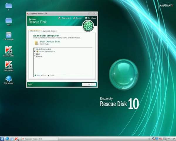 LinuxForum.hu A Kaspersky Linuxszal menti a Windowst live cd KDE Kaspersky Rescue Disk Gentoo