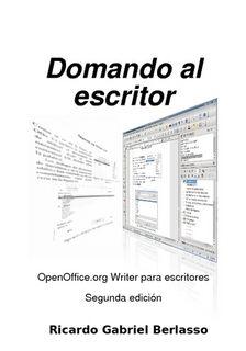 Domando al escritor, libro de OpenOffice Writer