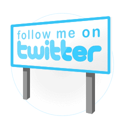 Twitter follow me on