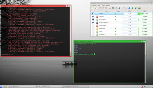 Qubes OS Xen virtual machines