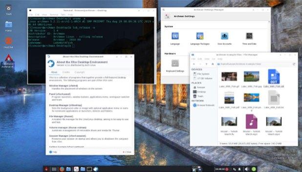 Archman Linux Xfce desktop