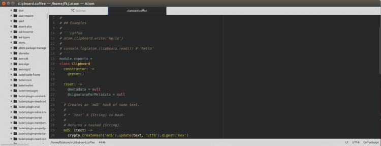 Atom - hackable text editor for the 21st Century - LinuxLinks