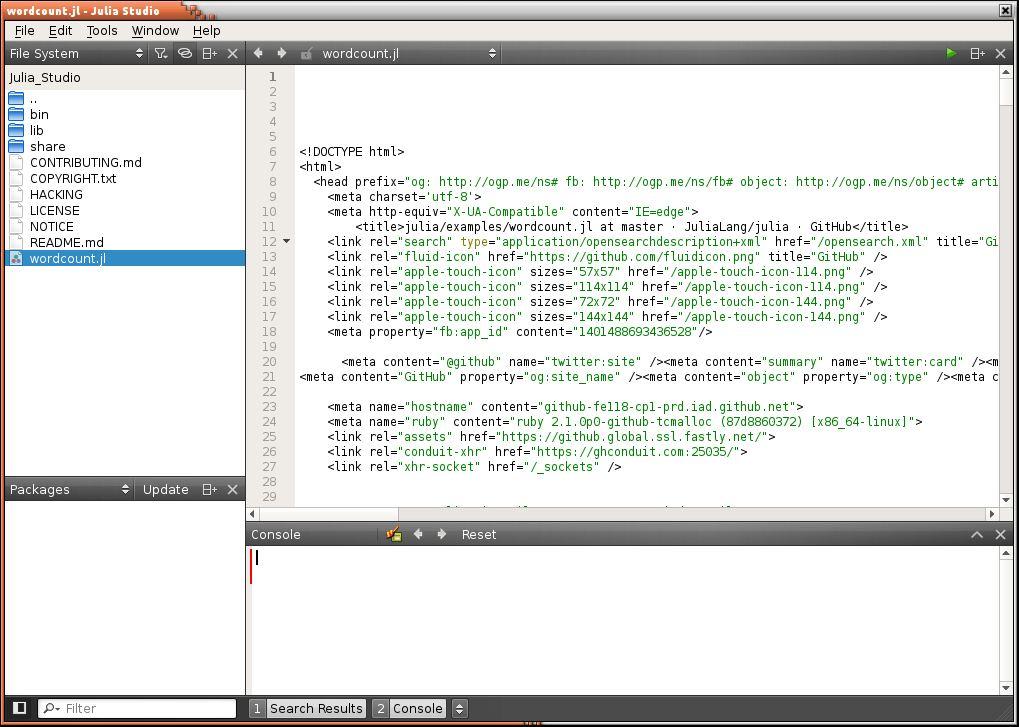 Julia Studio - IDE for the Julia language - LinuxLinks