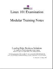 Linux 101 & 102 Modular Training Notes