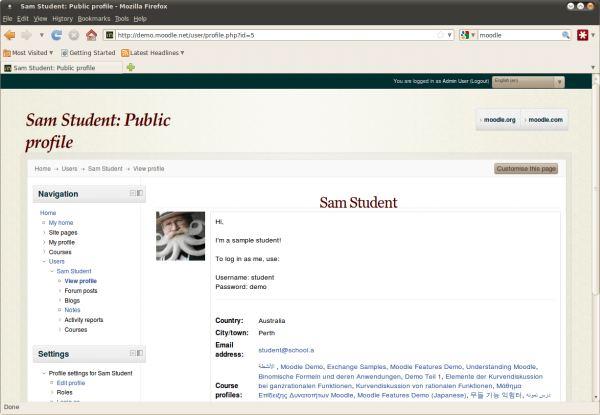 Moodle - online learning management system - LinuxLinks