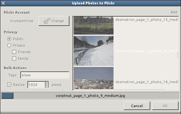 Nautilus Flickr Uploader