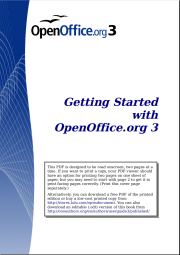 Getting Started with OpenOffice.org 3.x
