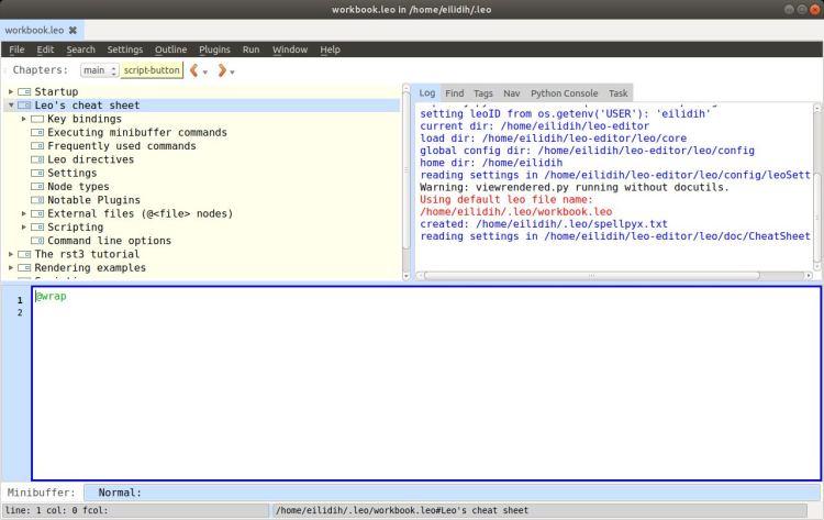 Leo - Python based IDE, Outliner and PIM - LinuxLinks