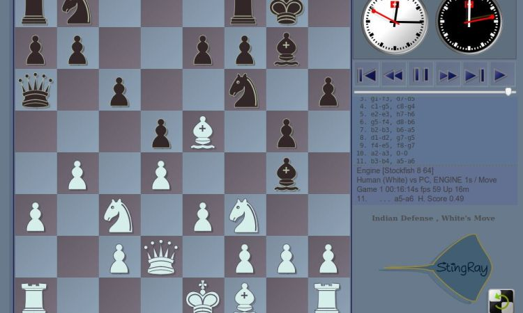 StingRay - simple chess graphical user interface - LinuxLinks