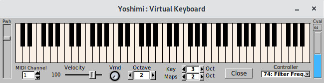 Yoshimi - MIDI software synthesizer - LinuxLinks