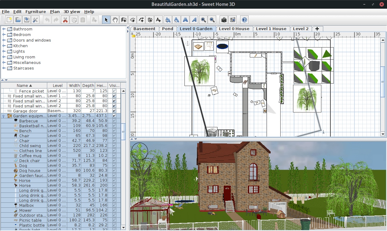 That helps you draw the plan of your house, arrange furniture on it and visit the results in 3d. Sweethome3d Architectural Design Software Application Linuxlinks