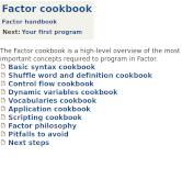 Factor cookbook