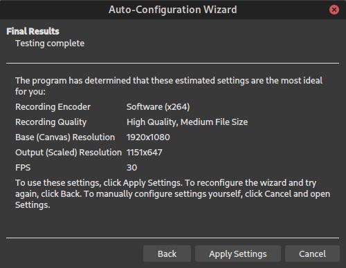AWOW AK41 - OBS Studio - Auto-Configuration Wizard