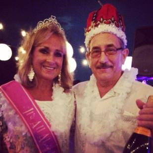 """Thank you to everyone who came out last night in their fabulous white attire!! And, thank you again to our generous sponsors, the night would not be possible without you. Congratulations to Mayor Rick and Sally DePhamphilis, voted our """"King and Queen of the Hop""""! — at Linwood Country Club."""