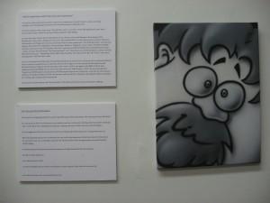 My bio/info and caricature