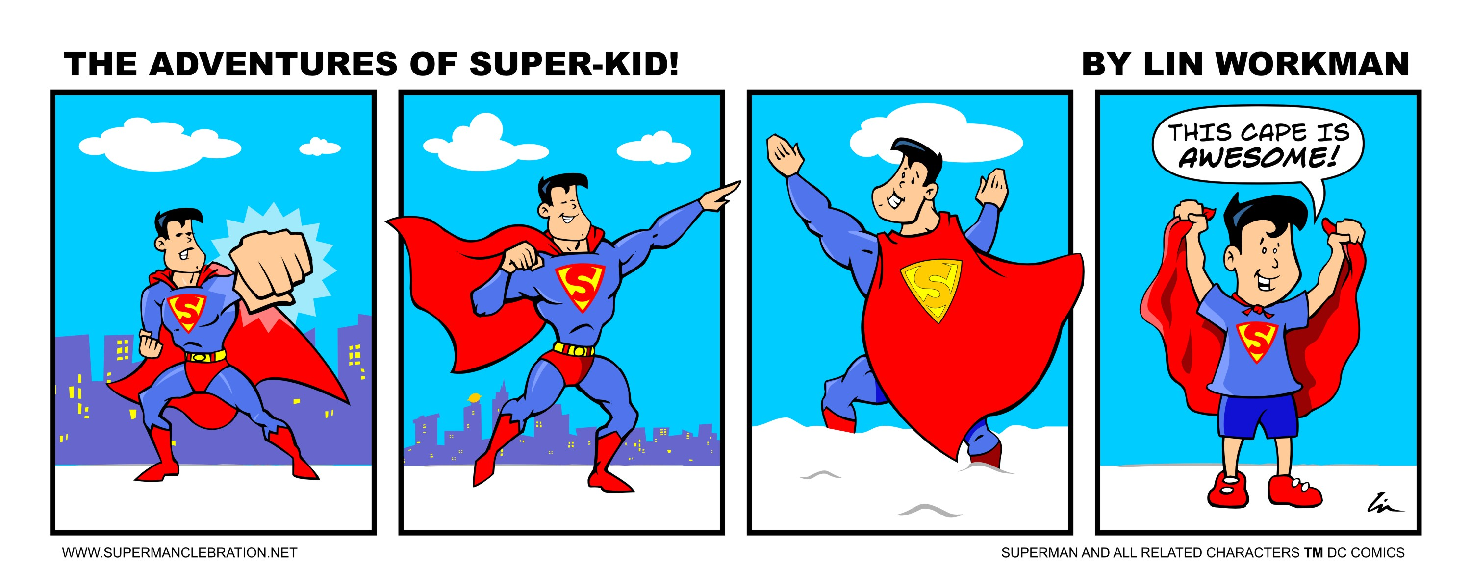 Off the drawing board and kitchen table- Superman Celebration art ...