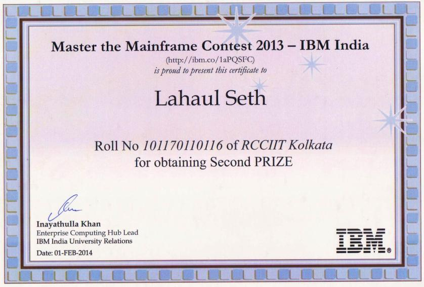 master the mainframe contest