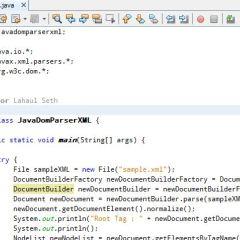 Parsing Xml In Java Using Java Dom Parser