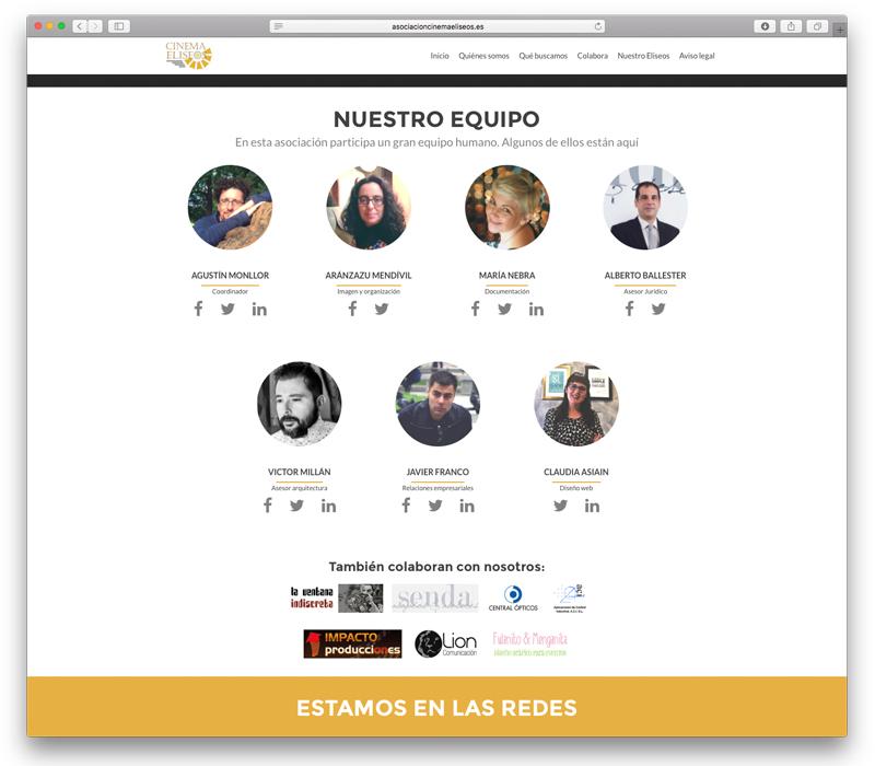 Diseño web para la Asociación Salvemos el Eliseos - Lion Comunicación en Zaragoza