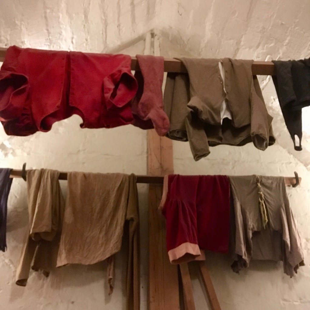 Old clothes hanging up, Warwick Castle