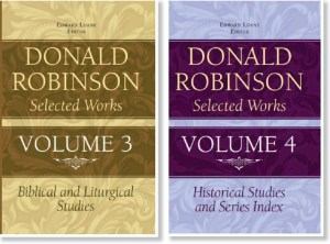 Donald Robinson Selected Works volumes 3 and 4