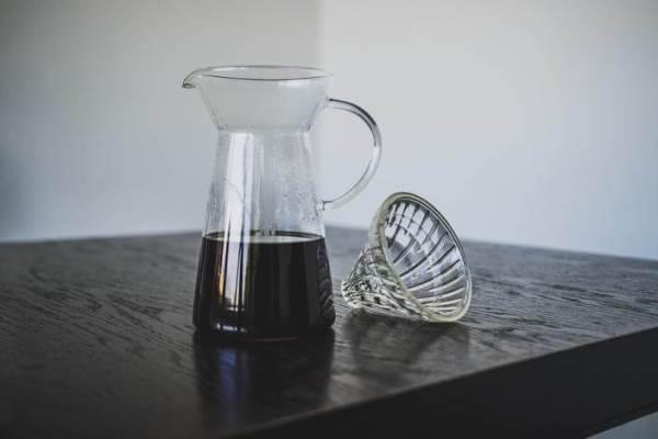 V60 glass brew coffee