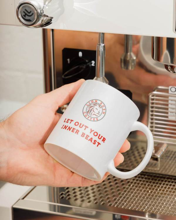 coffee mug lion rush coffee let out your inner beast