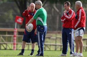 Lions Coaches Sir Ian McGeechan, Warren Gatland, Shaun Edwards and Rob Howley