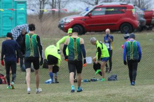 Before the start of the first race at the 2017 Canadian Cross Country Championships