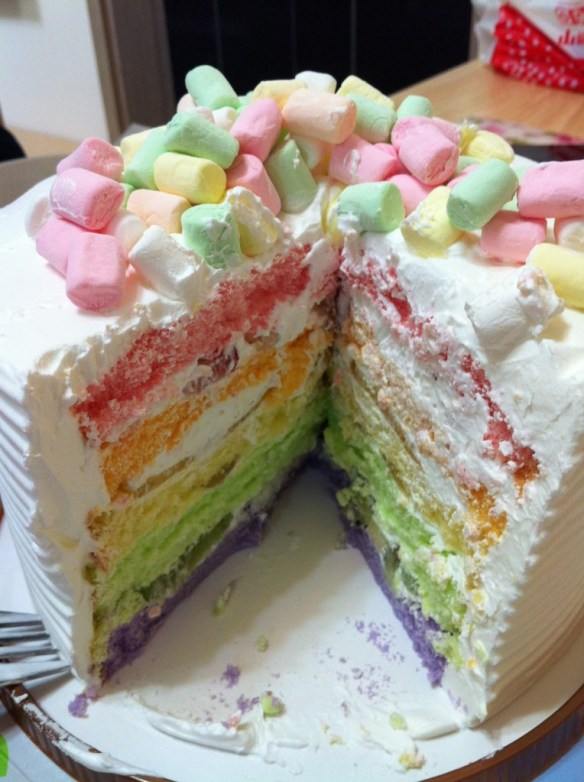 happy rainbow cake maxim