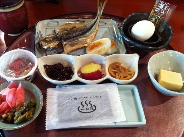 箱根 一之湯本館 早餐