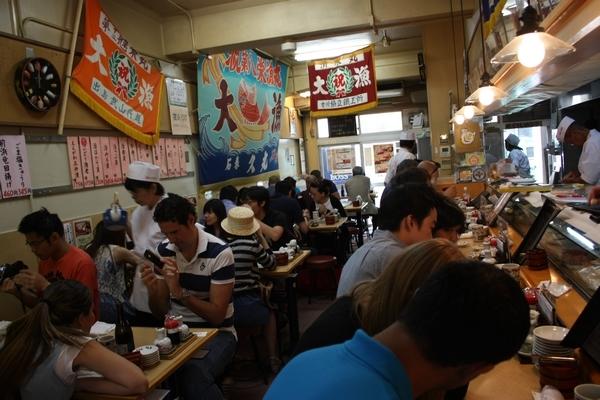 築地市場 場內壽司店