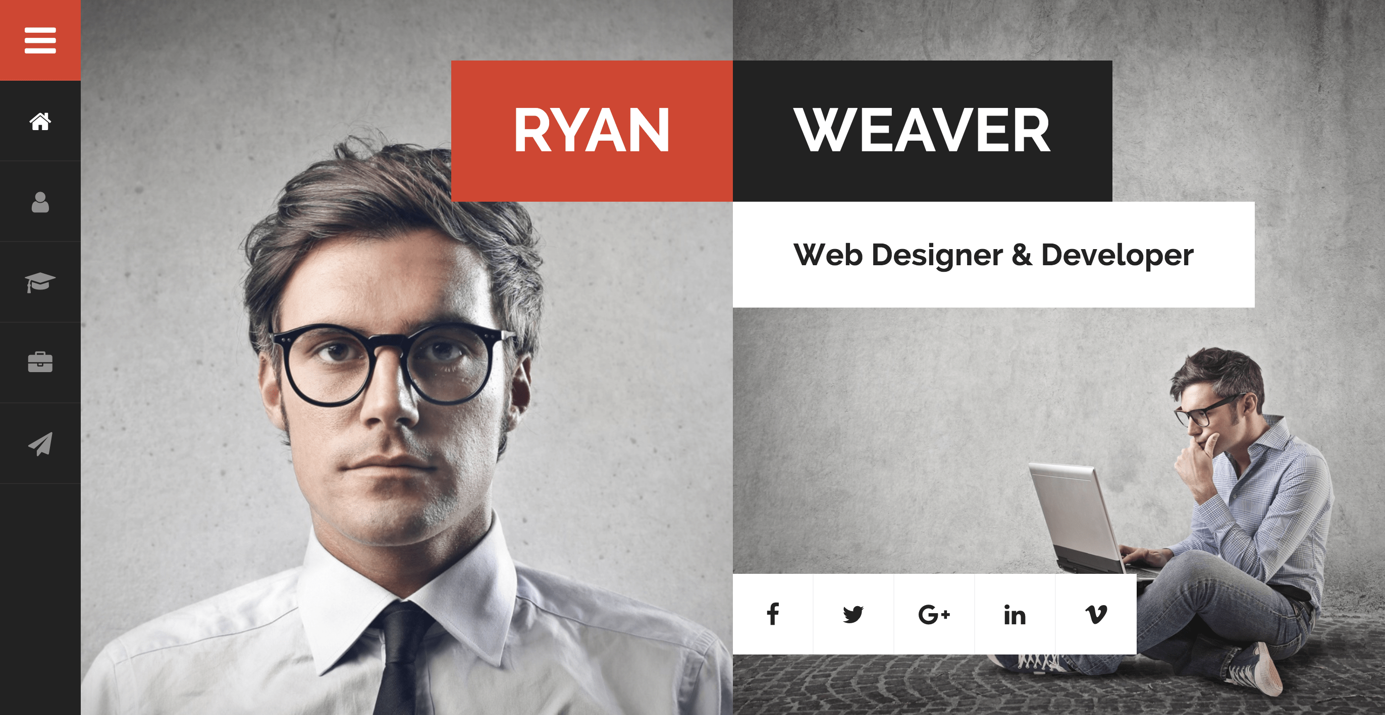 Divergent – Personal Vcard Resume WordPress Theme.png