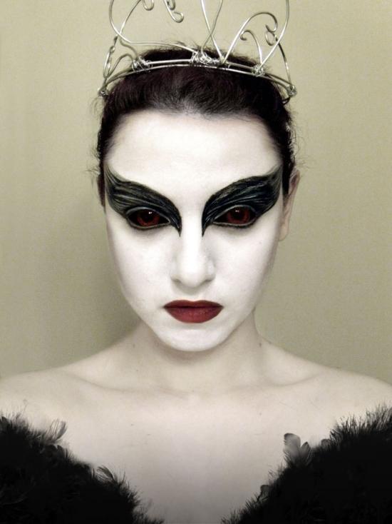 lipoedem mode last minute halloween make-up black swan