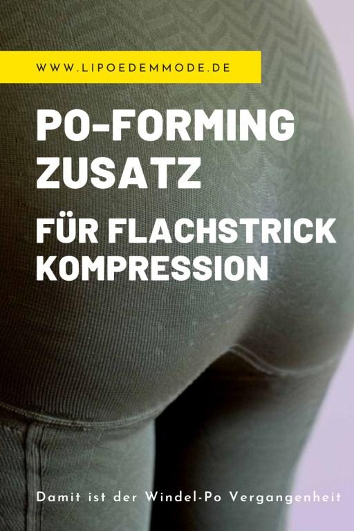 Lipödem mode zusatz flachstrick kompression po-forming windel po