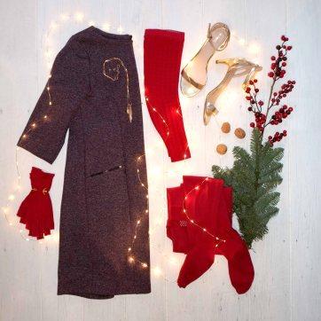 lipoedemmode outfit medi kirschrot festlich moodboard