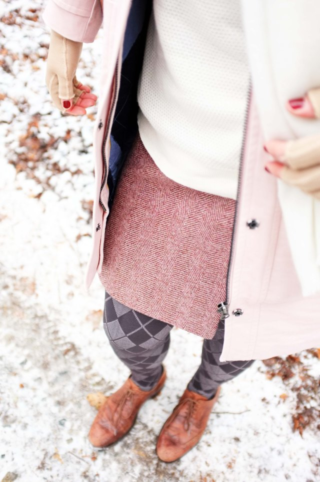 lipoedem mode outfit medi 550 crosses grau boden rock british chic biritsch kompressionsstrumpfhose kompressionsbestrumpfung curvy plus size winter