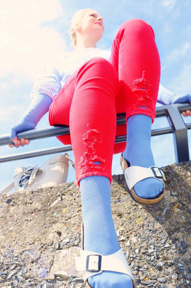 lipoedem mode outfit jeansblau medi