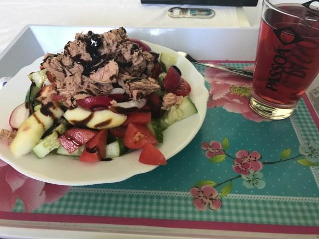 Full day of Eating Lipödem Ernährungstagebuch Thunfischsalat mit Balsamico Essig