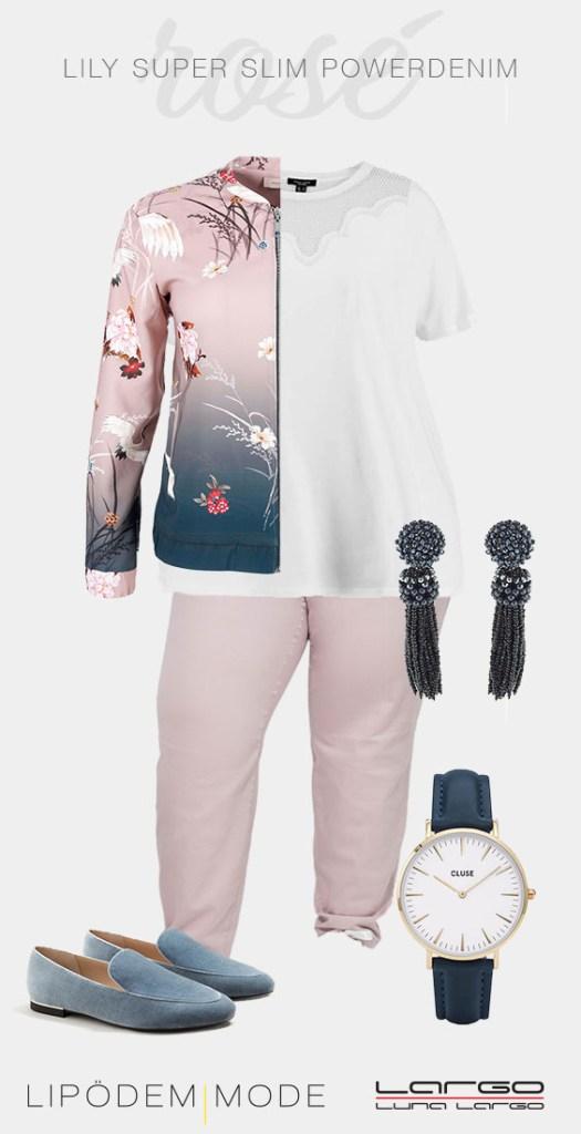 lipoedem mode luna largo Moodboard lily super slim powerdenim plus size Outfit rose