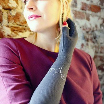 Lipoedem Mode Outfit Swarovski medi caroline sprott flachstrick kompressionsbestrumpfung mediven 550 mondi esprit