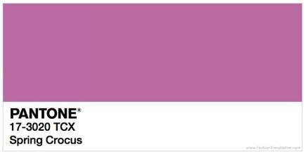 Pantone 17-3020 Spring Crocus Trendfarben Frühling / Sommer 2018