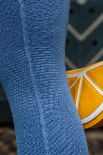 lipedema mode compression tights medi 550 denim blue knee comfort zone functional zone