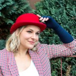 Lipoedem fashion navy blue red bowler hat Britchic Caroline Sprott medi arm compression arm socks Plus Size