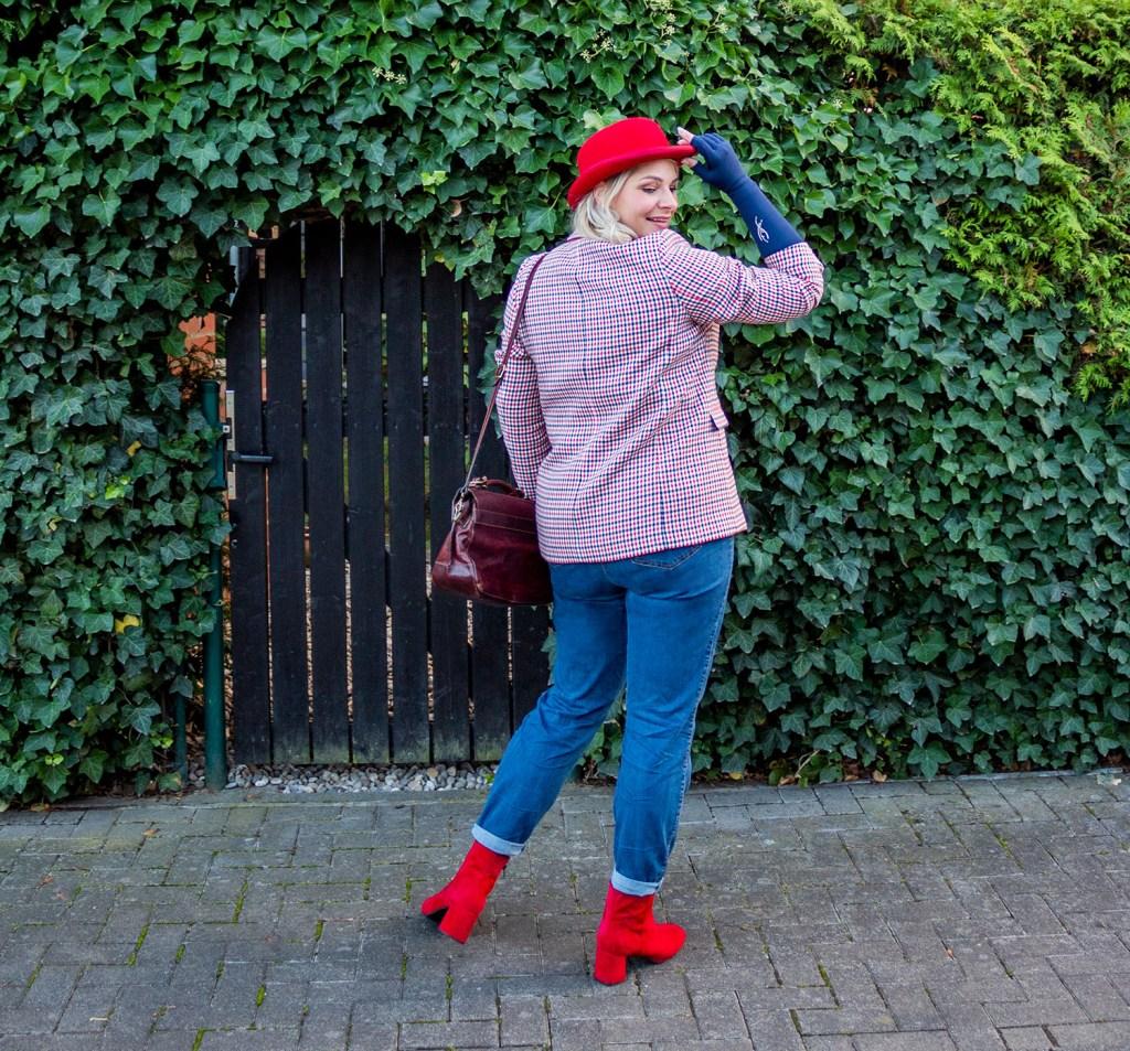 Lipoedem Mode Marineblau Rote Melone Britchic Caroline Sprott medi Armkompression Armstrümpfe Plus Size