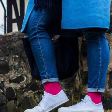 Lipedema fashion plus size casual blue magenta medi mediven 550 armband compression lymphedema outfit caroline sprott