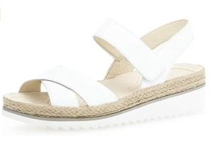 weiße sandalen gabor riemchen