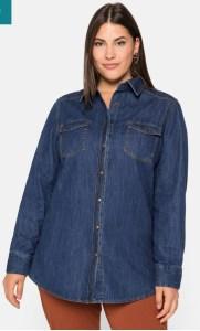 plus size jeans hemd