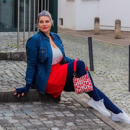 lipedema fashion luna largo caroline sprott skirt underskirt red plus size medi marine blu compression compression tights mediven 550 outfit fashoin lipedema lymphedema compression